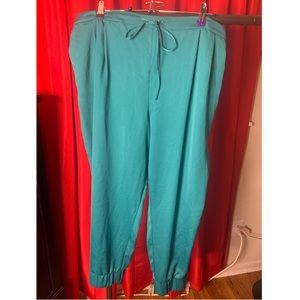 A modern and dressy take on swear pants